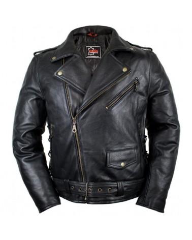 Rocker Motorrad Lederjacke...